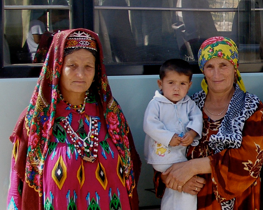 Tajik women and a child