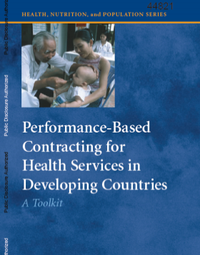 Cover of Performance-Based Contracting for Health Services in Developing Countries