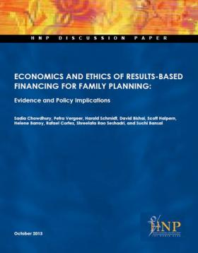 Cover of Economics and Ethics of RBF for Family Planning - Evidence and Policy Implications