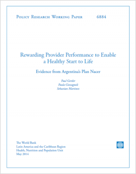 Cover of Rewarding a Provider Performance to Enable a Healthy Start to Life