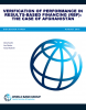 Verification of Performance in Results-Based Financing: The Case of Afghanistan