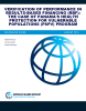 Verification of Performance in Results-Based Financing: The Case of Panama's Health Protection for Vulnerable Populations Program