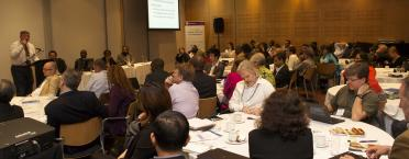 Room full of researchers, global health and RBF practitioners, implementers, and policymakers